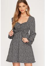 The Kurtis Long Sleeve Printed Dress