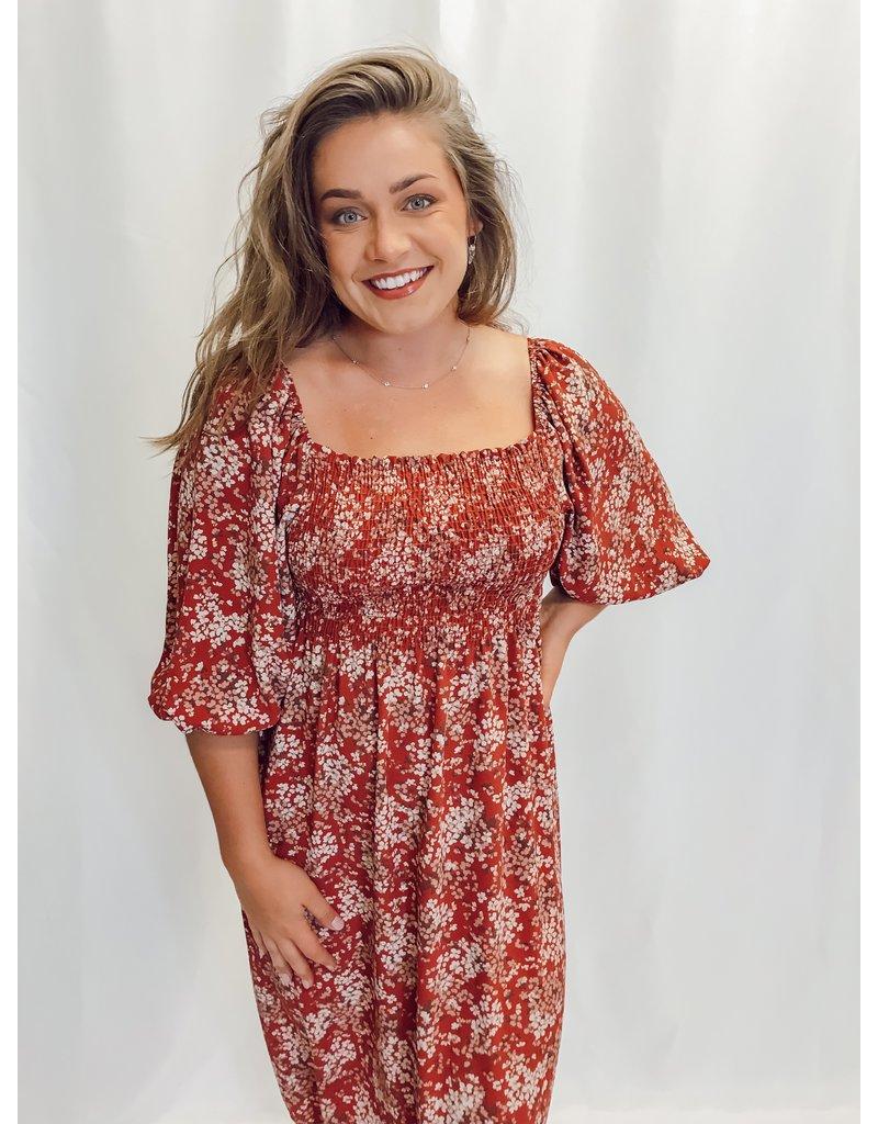 The Wanderlust Floral Midi Dress