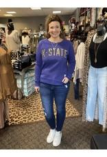 The Collegiate Leopard Sweatshirt - Kansas State Wildcats