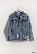 Umgee Latest And Greatest Oversized Denim Jacket