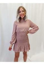 The Jenna Long Sleeve Smocked Dress