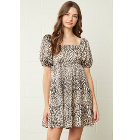 The Alexis Leopard Satin Dress