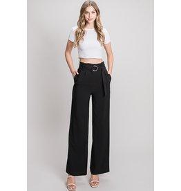 The Milena Wide Leg Pants - Black