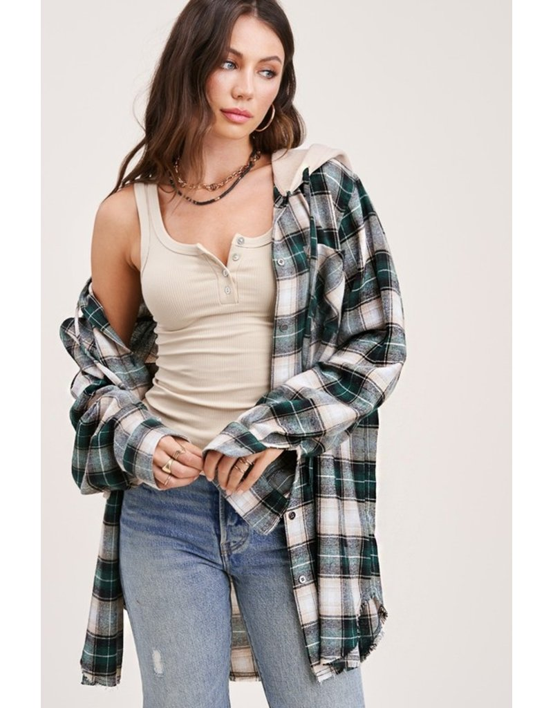 The Mad For Plaid Hooded Button Down