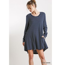 The Allie Pocketed Striped Dress