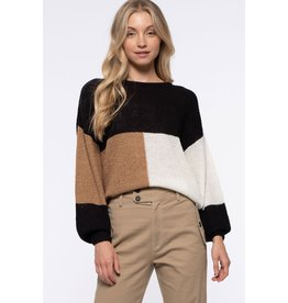 The Rexha Color Block Sweater