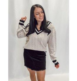 The Ramsey Striped Trim Sweater