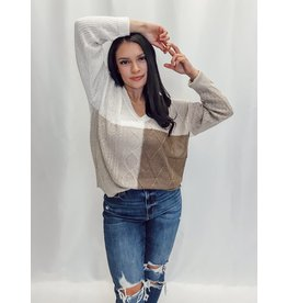 The Caydence Lightweight Color Block Sweater