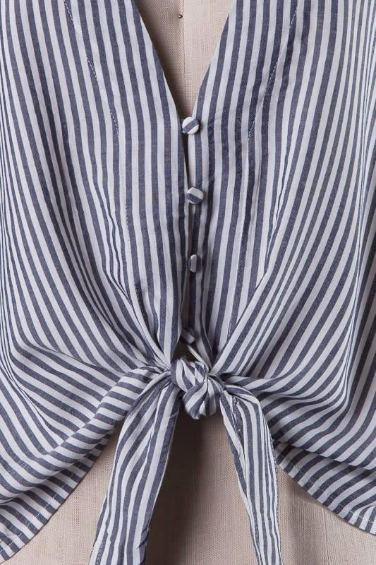 V cut Tie Shirt