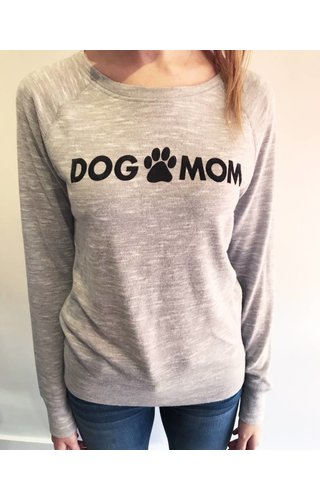 Brushed Dog Mom Pullover
