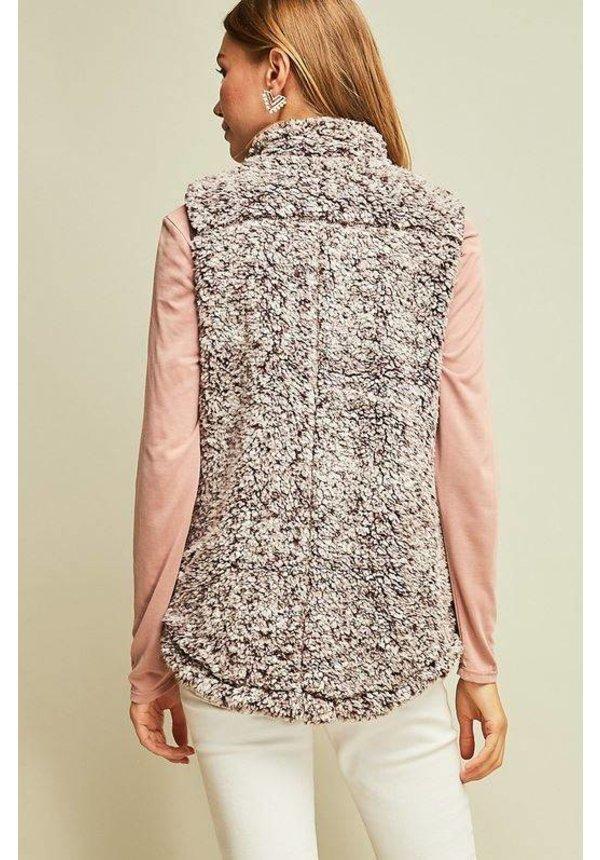 Faux Fur Zip Vest