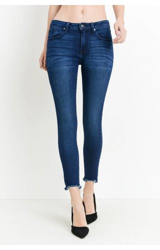 Just Black Denim HEM DESTRUCTION SKINNY