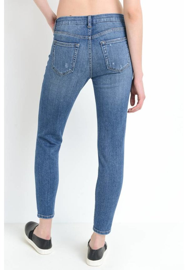 H/R Skinny W/Knee Slits