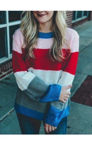 PROMESA Color Block Cable Knit