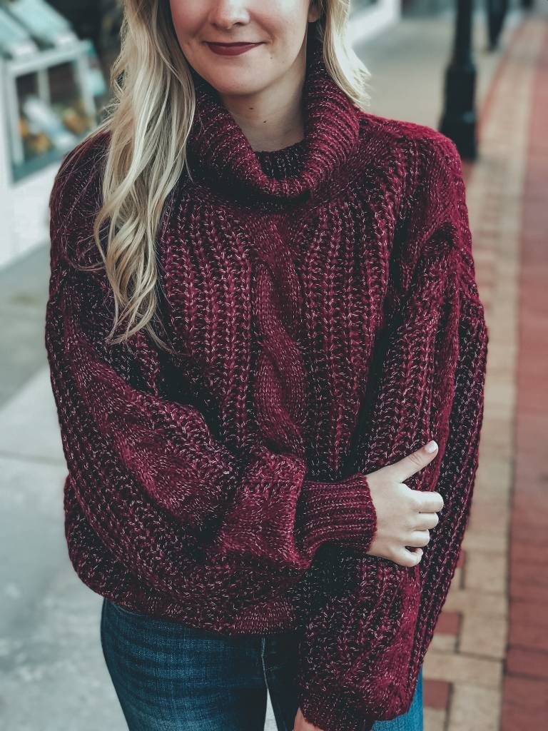 6173fd6d3798 Chunky Cable Knit Sweater - Camp David Store