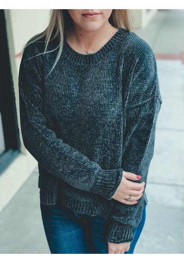 Rib Knit Chenille Sweater