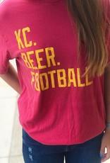 KC. BEER. FOOTBALL. TEE