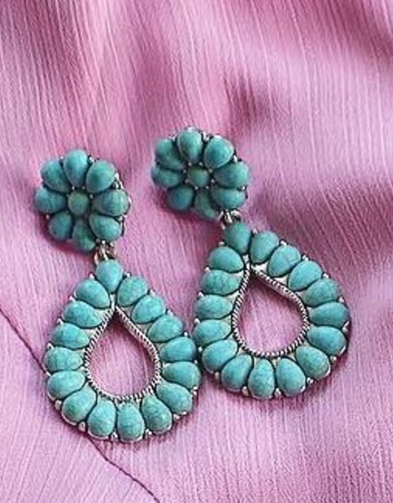 Avenue Zoe STONE STATEMENT EARRING: Turquoise