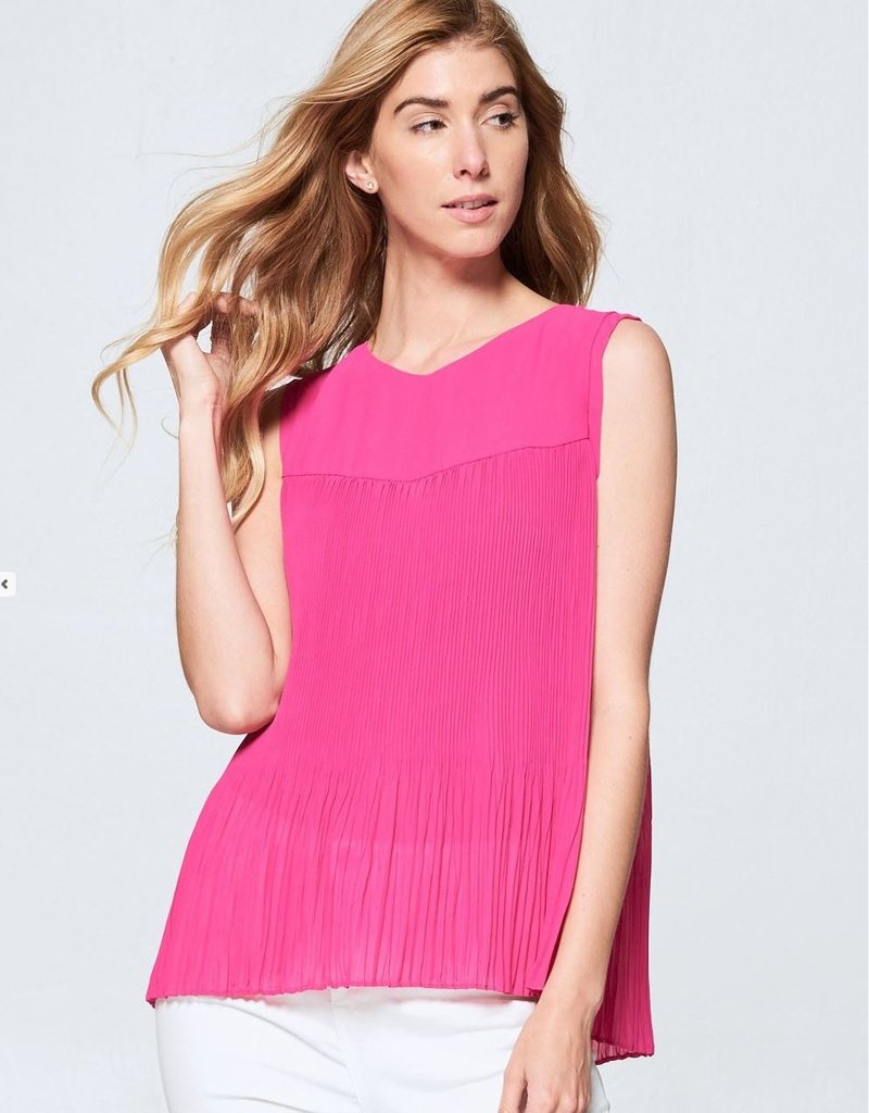 Bright Pleated Tank