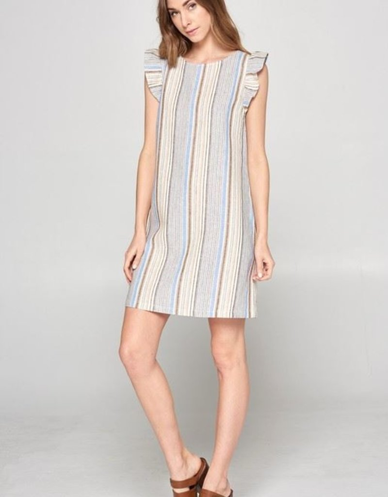 Neutral Stripe Dress