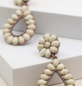 Avenue Zoe STONE STATEMENT EARRING: Cream