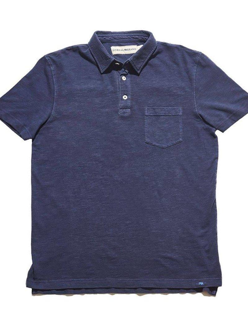 Vintage Slub Short Sleeve Pocket Polo
