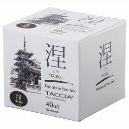 Taccia Taccia Kuro Black 40ml Bottled Ink