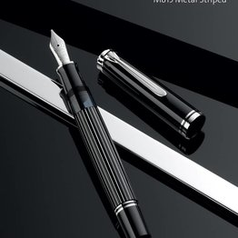 Pelikan Pelikan Special Edition Souveran M815 Series Metal Striped Fountain Pen Medium