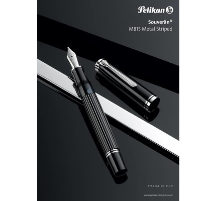 Pelikan Pelikan Special Edition Souveran M815 Series Metal Striped Fountain Pen