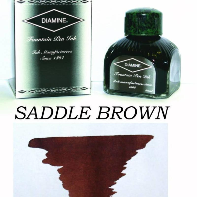 Diamine Diamine Saddle Brown - 80ml Bottled Ink