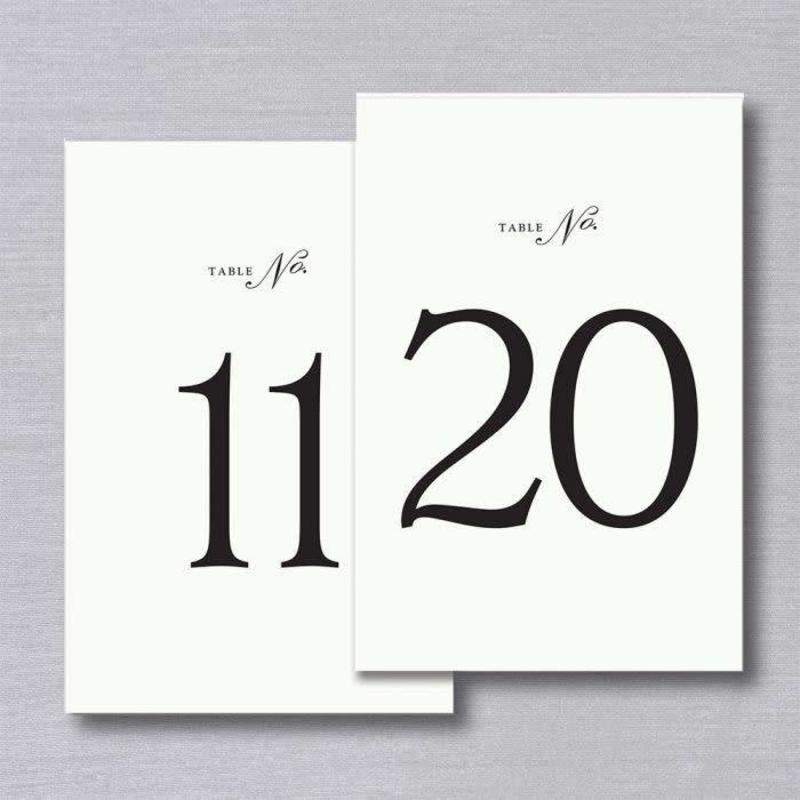 Vera Wang Table Numbers 11-20