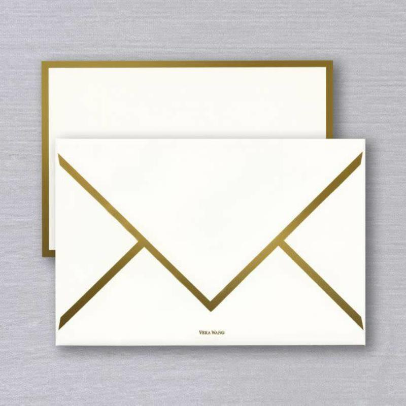 Vera Wang Gold Foil Bordered Card