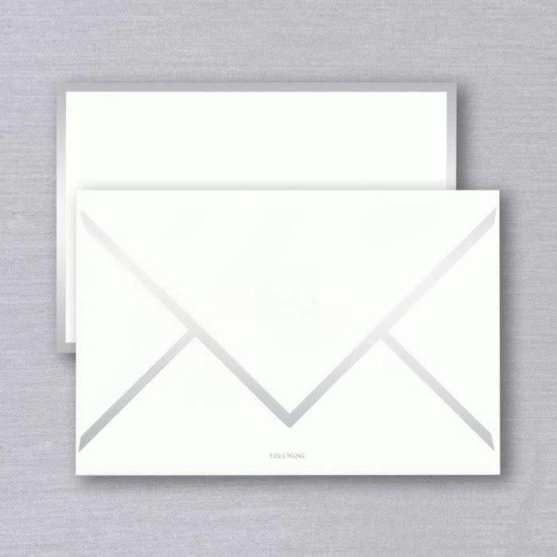 Vera Wang Silver Foil Bordered Card