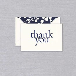 Vera Wang Indigo Blossoms Thank You Note