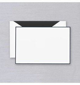 Crane Crane Pearl White Black Bordered Card