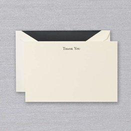 Crane Crane Ecru Black Thank You Card