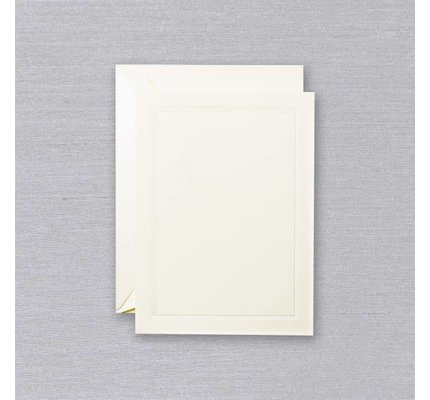 Crane Crane Ecru Blind Embossed Beaded Frame Card