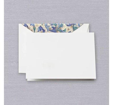 Crane Crane Pearl White Blue Florentine Note