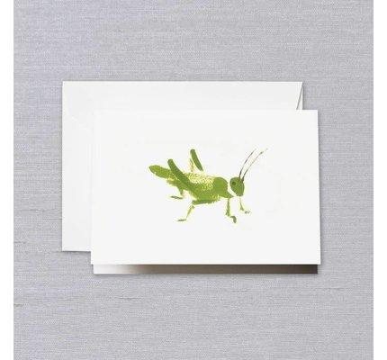 Crane Crane Pearl White Brushstroke Grasshopper Note