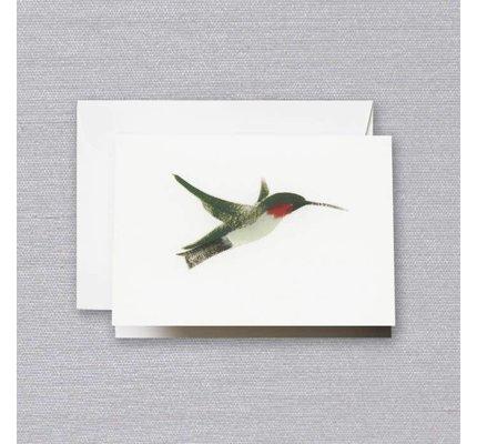 Crane Crane Pearl White Brushstroke Hummingbird Note