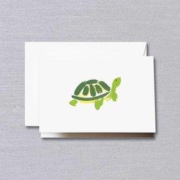 Crane Crane Pearl White Brushstroke Turtle Note