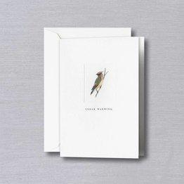 Crane Crane Pearl White Cedar Waxwing Note