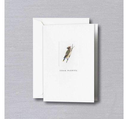 Crane Crane Pearl White Cedar Waxwing Note (Discontinued)