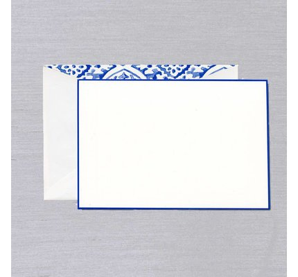 William Arthur White Delft Bordered Card