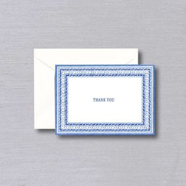 William Arthur William Arthur White Delft Thank You Note