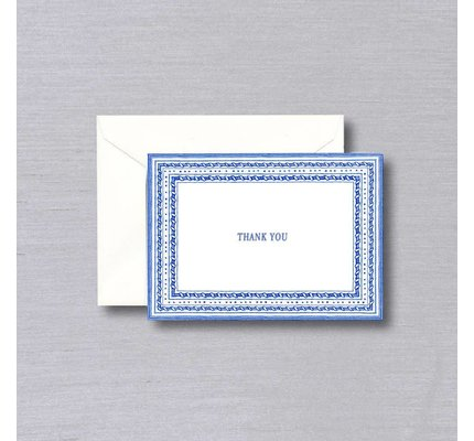 William Arthur White Delft Thank You Note