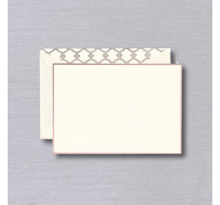 William Arthur Ecru Rose Gold Bordered Card
