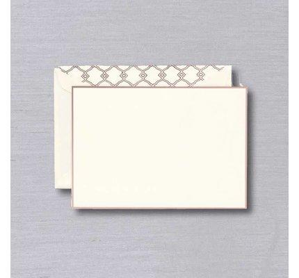 William Arthur William Arthur Ecru Rose Gold Bordered Card
