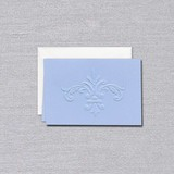 William Arthur Blue Fleur De Lis Note