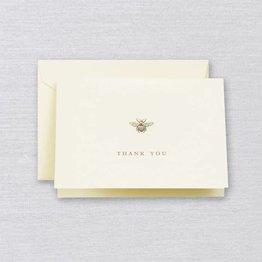 Crane Crane Ecru Bumble Bee Thank You Note